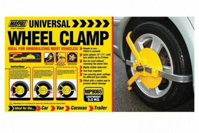 "Trailer Wheel Clamp Maypole MP9065 Suits 13-17"" Wheels Tyre Width up to 215mm"