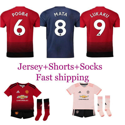 1819 Football Kits Soccer Suits Kids Adult Jersey Strip Sports Outfit with Socks