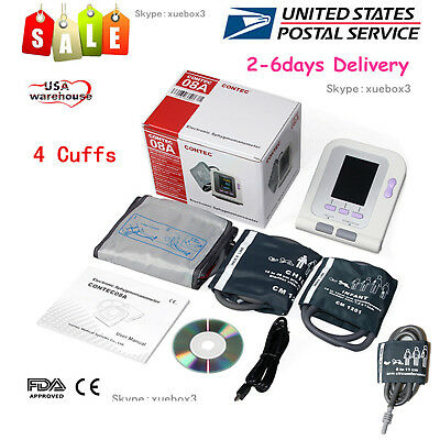 USA Electronic Sphygmomanometer blood pressure Neonatal/Infant/Child/Adult cuffs