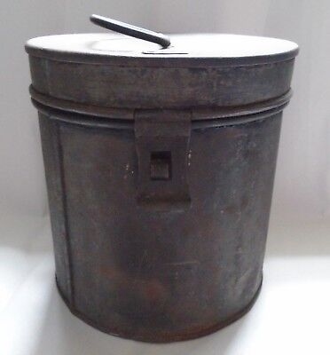 Vintage NER NOrth Eastern Railways Storage Tin With Handle