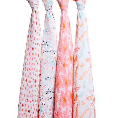 NEW Aden and Anais Petal Blooms Swaddle Set 4pce