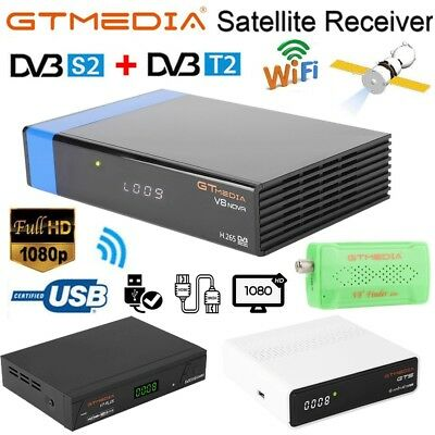 GTMEDIA GTS/V8 Nova/V7 Plus Digital Satellite TV Receiver DVB-S/S2 1080P HD WIFI