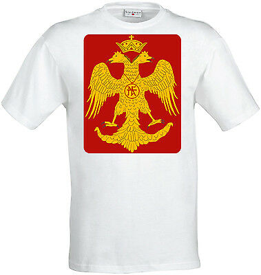 Byzantine Eagle Red And Yellow Artwork men (woman available) t shirt white