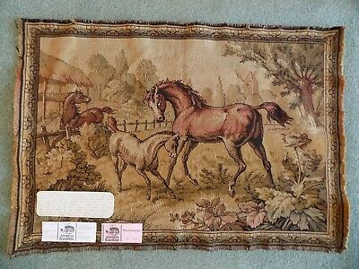 "WW1 Vintage French Tapestry with BBC Antique Roadshow Provenance 35""x24"""