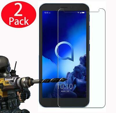 New Geniune Clear Tempered Glass Screen Protector For Alcatel Phones (Pack Of 2)