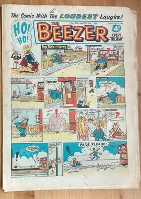 THE BEEZER COMIC, No 216 - March 5th 1960 : Fair Condition