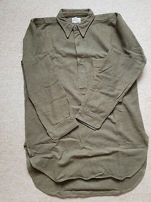 Ww2 British Army Officers Private Purchase Wool Shirt Battledress