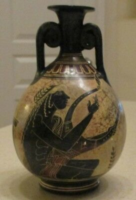 Handmade Ancient Classic Period 500 BC Pitcher Vase Copy Greece National Museum