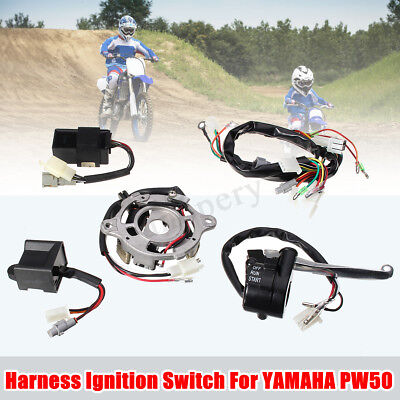 Wring Harness Ignition Switch CDI Magneto Stator Control Kit For Yamaha PW50