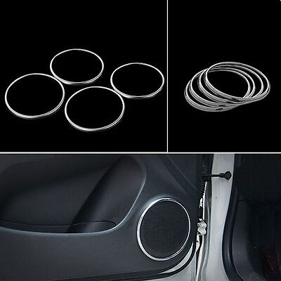 4x Interior Side Door Speaker Audio Ring Cover Trim Sticker For Cruze 2009-2013