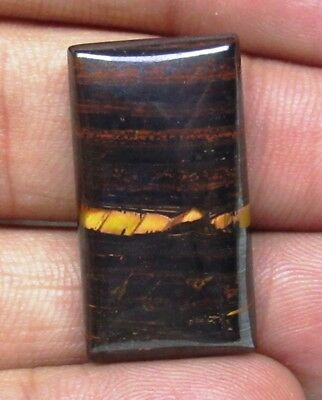 Natural Iron Tiger Eye Baguette Shape 30.60 Cts Cabochon Loose Gemstone D 8993