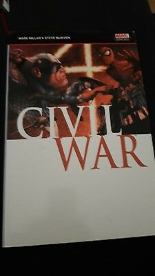 Civil War TPB - Mark Millar - Marvel Graphic Novel - Iron Man Captain America