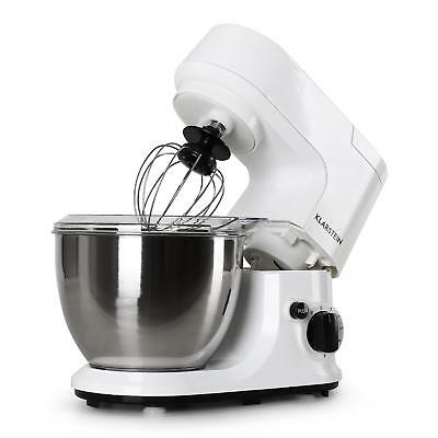 New 800W White 4L Food Processor Dough Hook Kitchen Stand Mixer Stainless Steel