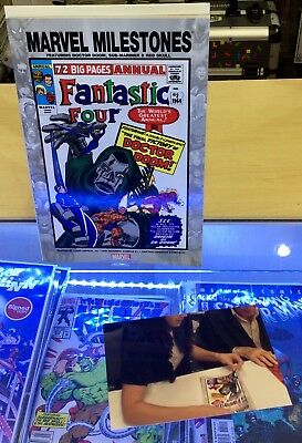 Marvel Milestones The Fantastic Four Issue 2 Comic - Signed By Stan Lee - Poa
