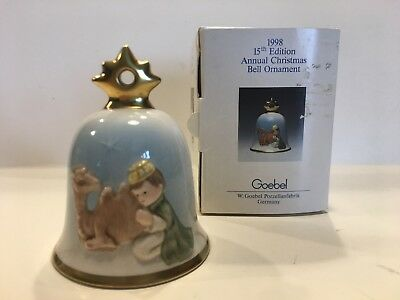Goebel Hummel Annual Christmas Bell Ornament 1998 15th Edition With Box