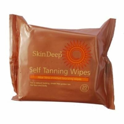 Skin Deep Self Tanning Wipes Contains 20 Wipes per pack New