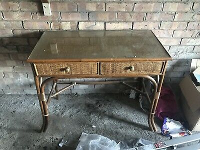 Antique Or Vintage bamboo desk or dressing table