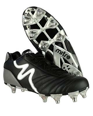 MITRE RUGBY Mens Boys Black Italia Terra Football Rugby Boots Ankle Shoes UK 5