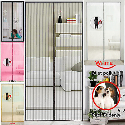 Magnetic Mesh Door Instant Hands Free Fly Bug Mosquito Pet Screen Curtain Net AU