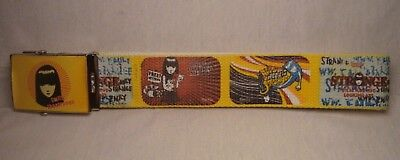 EMILY THE STRANGE rare fabric belt with metal buckle brand new sealed