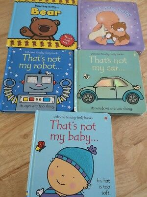 Usborne That's Not My.. Books Bundle 3 plus 2 other touchy feely books