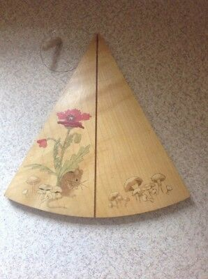 Adorable Hand Painted Wooden Cheese Slicer Board