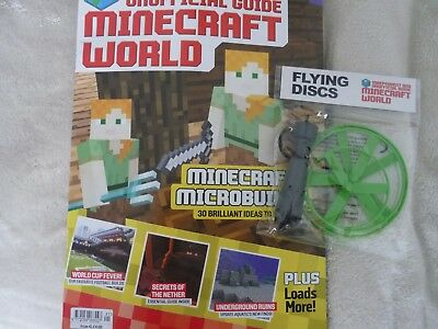 Minecraft world magazine issue 41 + free gift flying discs
