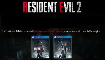 RESIDENT EVIL 2 LENTICULAR EDITION Playstation 4 PS4 NUOVO