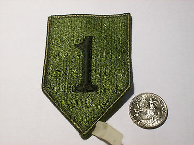 Lot of TWO Nice used Military US Army 1st INFANTRY Division subdued unit patches