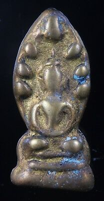 """Very Rare!!""""Old Phra Nakprok"""" Genuine,Thai Amulet,Rich Luck.Protection."""