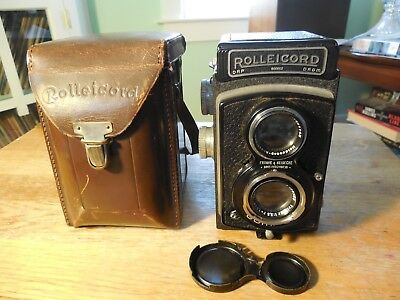 Vintage ROLLEICORD Camera w/ Original Leather Case