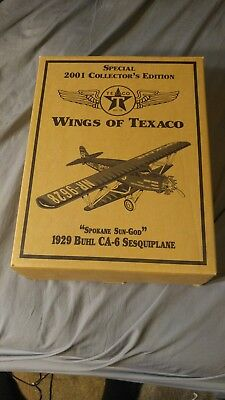 Ertl Wings of Texaco 1929 Butl CA-6 Sesquiplane Special Die-Cast Metal Bank