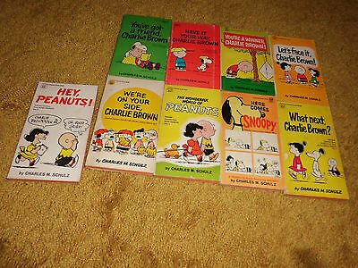 Lot of 9 Used/Vintage 1950s-60s Charles Schulz - Peanuts/Charlie Brown Books++