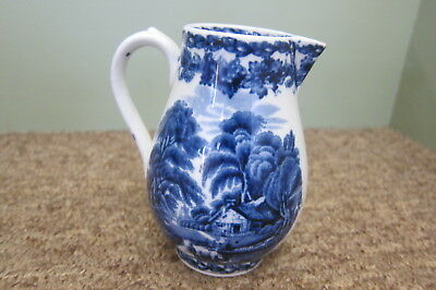 Booths Blue and white jug c1910 11cms tall
