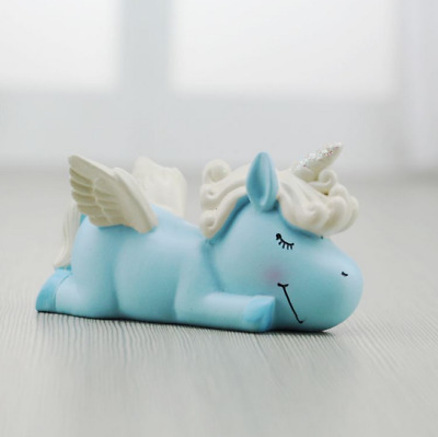 Rare exquisite Chinese resin cartoon unicorn mobile phone holder home decoration