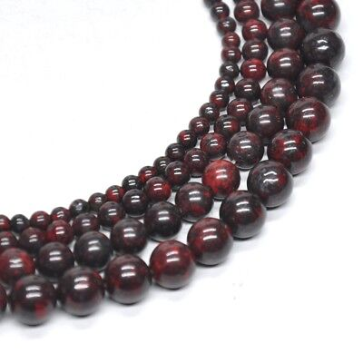 Natural AAA Blood Stone Crystal Healing Round Loose Beads 4mm 6mm 8mm 10mm