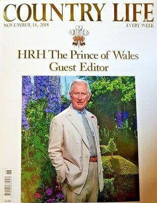 Country Life Magazine 2018 = 14 November = Hrh The Prince Of Wales Guest Editor