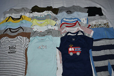 Used 27 Pc. Lot Of Baby Boy Clothes/bodysuits 3-6 Months Euc/vguc