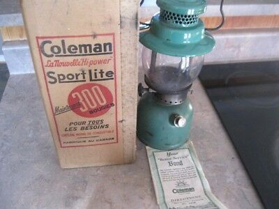 Vintage 1948 Coleman Lantern With Original Box Model No 242B With Directions