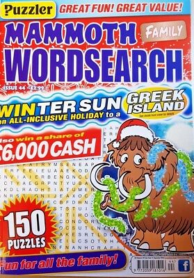 Puzzler = Mammoth Family Wordsearch = # 44 = 2018 = 150 Puzzles