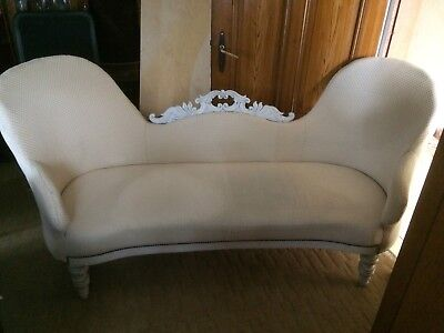 Louis Philippe Sofa Couch  gepolstert Traditionell Antik 1870