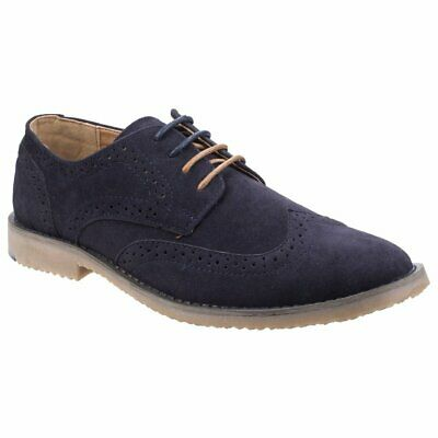 Stone Creek Rocky Mens Navy Faux Suede Smart Formal Casual Lace Up Brogue Shoes