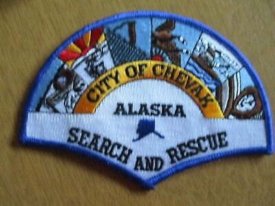 Patch Alaska City of Chevak, SAR, Search and Rescue, rotes Kreuz