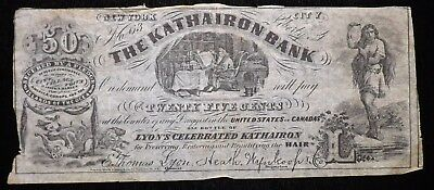 25 Cent Kathairon Bank of New York Obsolete  Paper Note Coupon