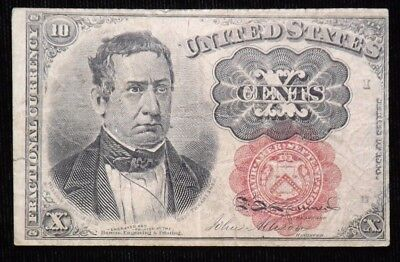 10 Cent  5th Issue  Meredith  Fractional Currency Paper Note   Circulated