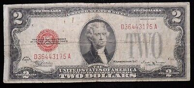 1928 E 2 Dollar  United States Paper Note   Circulated