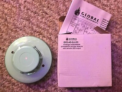 Global Addressable Smoke Detector - GFE-AD-S-LED New And Boxed