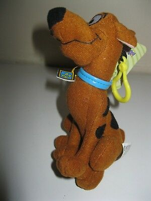 "NEW SCOOBY-DOO 6"" PLUSH BACKPACK CLIP CLIP-ON Keychain Cartoon Network NEW"