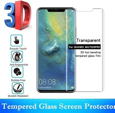 Full Curved Tempered Glass Screen Protector Edge Cover For HUAWEI P20 Mate20 Pro