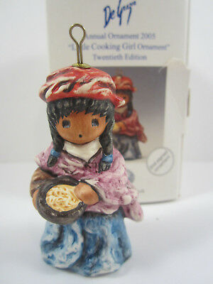 DeGrazia Goebel 'Little Cooking Girl Ornament' (2005) 20th Ed. 2nd Signed Orn.